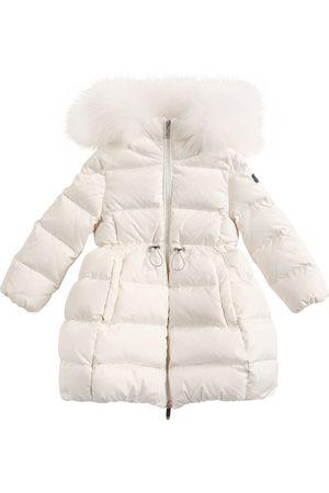 Il gufo Girls Jackets - Nylon Down Coat W/ Fur Trim
