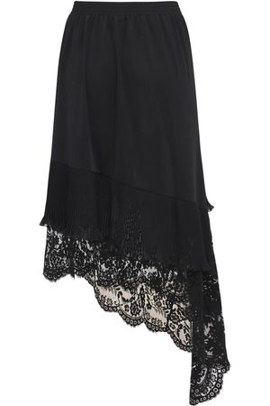 Vetements Women Asymmetrical Skirts - Lace Asymmetric Skirt