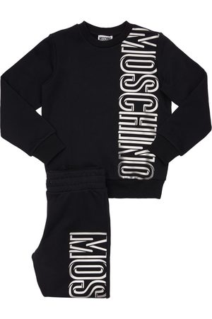 Moschino Logo Cotton Sweatshirt & Sweatpants