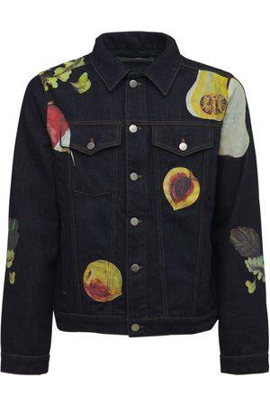 J.W.Anderson Veggie Fruit Print Cotton Denim Jacket