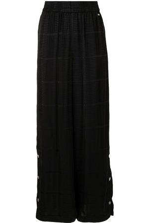 Armani High-waisted flared trousers