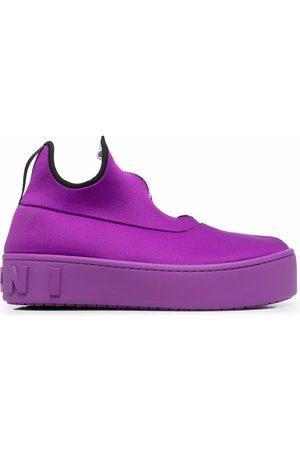 Marni Women Platform Sneakers - Sock-style platform sneakers