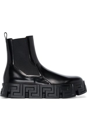 VERSACE Greca Labyrinth leather Chelsea boots