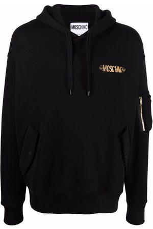 Moschino Men Hoodies - Logo-lettering cotton hoodie