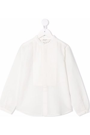 BONPOINT Ribbed-panel long-sleeves blouse - Neutrals