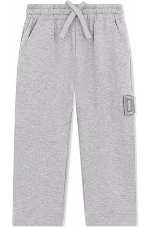 Dolce & Gabbana Boys Sweatpants - Logo-embroidered track pants - Grey