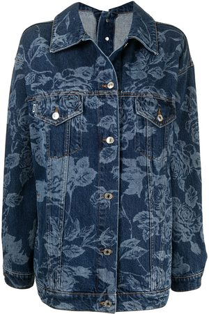 Msgm Floral-print denim jacket