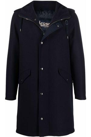 HERNO Men Parkas - Single-breasted wool coat