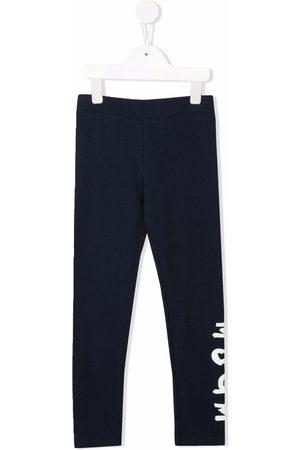 Msgm Girls Leggings - Logo-print stretch-cotton leggings
