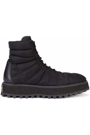 Dolce & Gabbana Men Ankle Boots - Quilted leather ankle boots