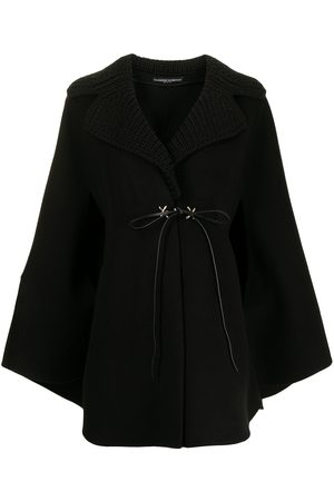 Ermanno Scervino Virgin-wool ribbed-knit collar cape