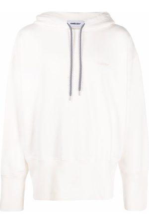 AMBUSH Logo embroidered hoodie - Neutrals