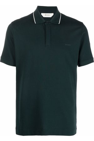 Z Zegna Men Polo Shirts - Logo-embroidered polo shirt