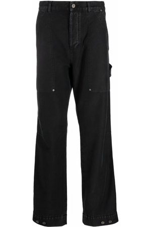Palm Angels Logo-patch straight-leg trousers