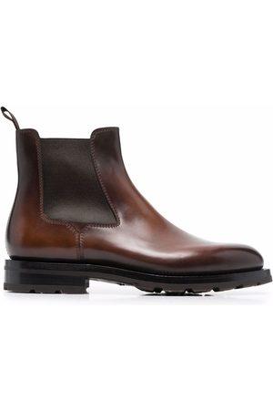 santoni Men Chelsea Boots - High-shine leather Chelsea boots