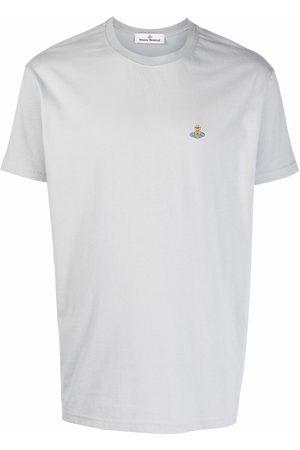 Vivienne Westwood Men Short Sleeve - Orb-patch short-sleeved T-shirt - Grey