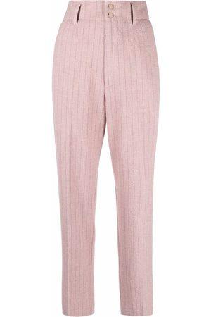 FORTE FORTE Women Straight Leg Pants - Stripe-print straight trousers