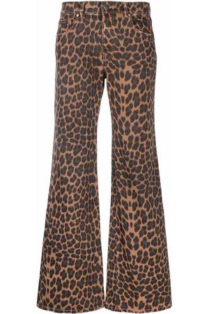 P.a.r.o.s.h. Leopard-print flared jeans