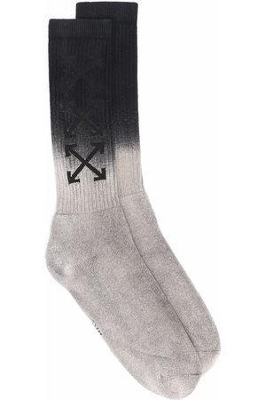 OFF-WHITE Arrows mid socks - Grey