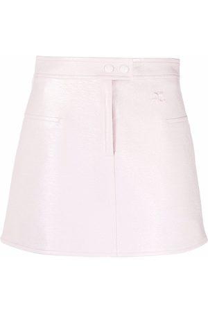 Courrèges Mini vinyl skirt