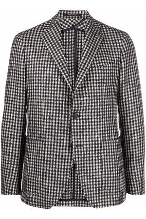 TAGLIATORE Men Blazers - Check-print single-breasted blazer