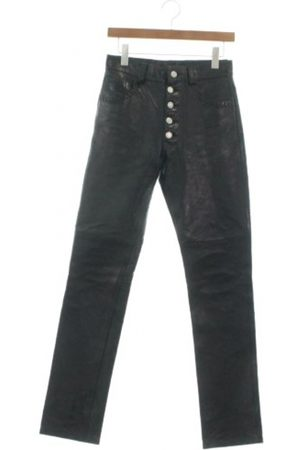 MARTINE ROSE Men Leather Pants - Leather trousers