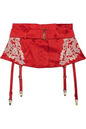 La Perla Women Underwear Accessories - Woman Lace-trimmed Silk-blend Satin Suspender Belt Size 1