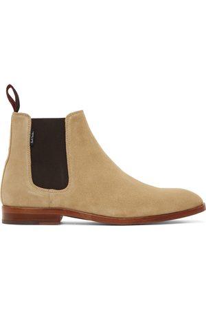Paul Smith Men Chelsea Boots - Beige Gerald Suede Chelsea Boots