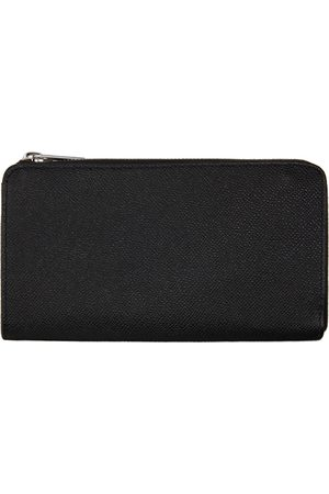 Maison Margiela Black Leather Half-Zip Wallet