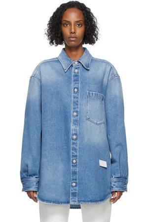 MM6 MAISON MARGIELA Women Denim - Blue Denim Shirt