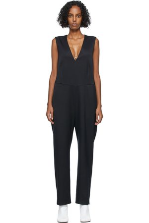 MM6 MAISON MARGIELA Black Stretch Wool Jumpsuit