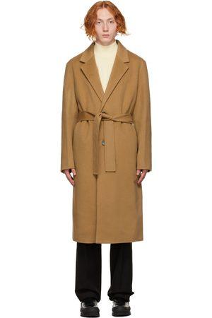 Solid Tan Oversized Robe Coat