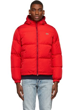 Lacoste Red Down Lightweight Puffer Jacket