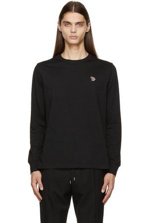 Paul Smith Men Long Sleeve - Black Zebra Logo Long Sleeve T-Shirt