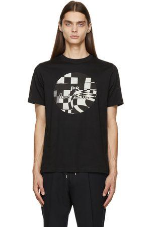 Paul Smith Men T-shirts - Black Chequered Graphic T-Shirt