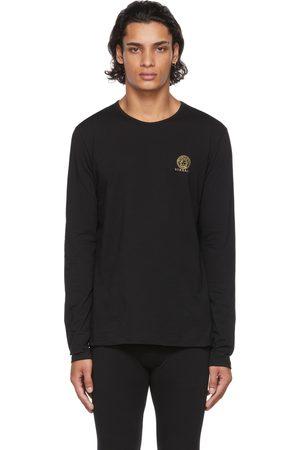 VERSACE Men Long Sleeve - Black Medusa Long Sleeve T-Shirt