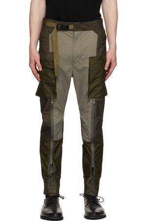 THE VIRIDI-ANNE Men Cargo Pants - & Grey Fragment Tactical Cargo Pants