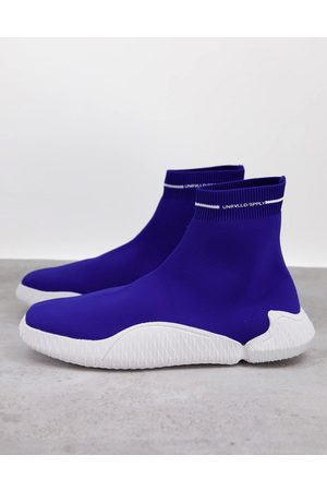 ASOS Sock sneakers with wrap sole-Blues