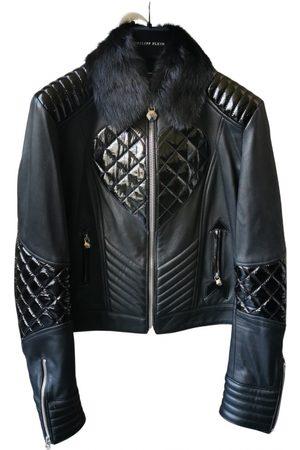 Philipp Plein Leather biker jacket
