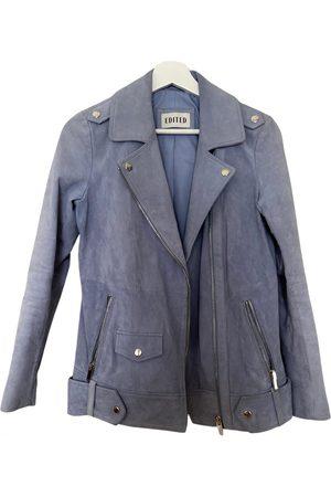 EDITED the label Leather biker jacket