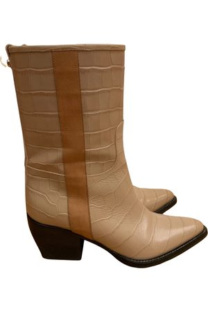 Chloé Vinny leather western boots