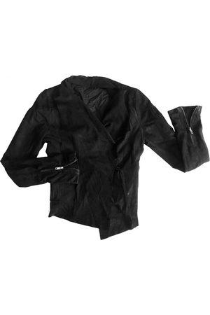 Maje Leather short vest
