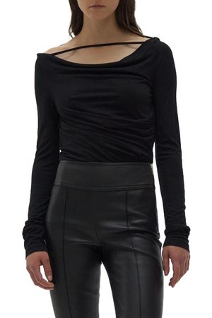 Helmut Lang Women's Scala Ruched Off The Shoulder Tunic Top