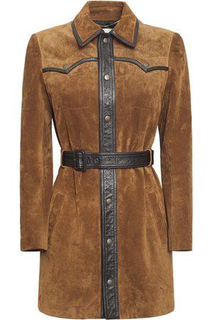 Saint Laurent Women Leather Jackets - Croute Vintage Leather Jacket