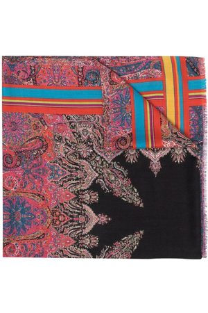 Etro Paisley silk-cashmere scarf