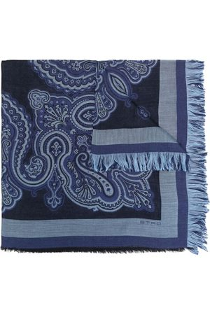 Etro Men Scarves - Checked lightweight scarf