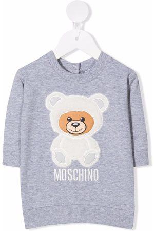 Moschino Baby Casual Dresses - Teddy bear sweatshirt dress - Grey