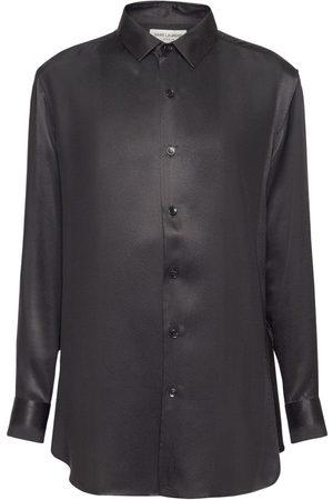 Saint Laurent Long Silk Over Shirt
