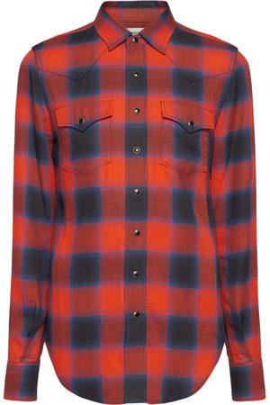 Saint Laurent Check Slim Western Shirt