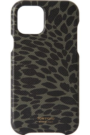Tom Ford Phones Cases - Green & Black Animal Print iPhone 12 Pro Case